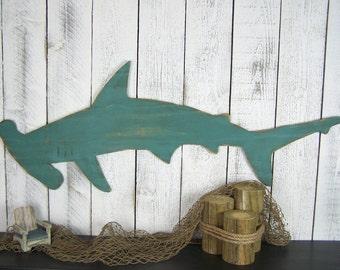 Hammerhead Shark Wall Art Beach Decor Wall Art Coastal Decor Beach Wall Art Shark Art Kids Room Decor Shark Decor Boys Room Shark Wall Decor