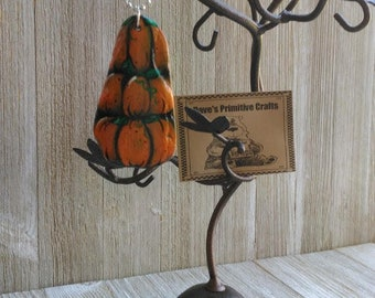 Reclaimed Slate Pendant w/one of a kind Halloween Pumpkins Handpainted on it 100 year old Slate found in West Virginia Appalachian Mountains