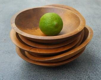 Set of 6 coconut husk bowls