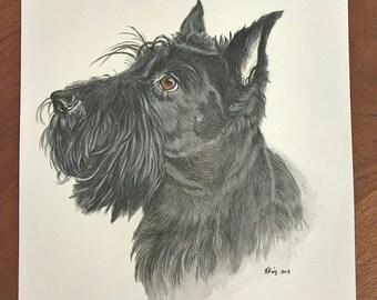 Personalised handpainted pet portrait