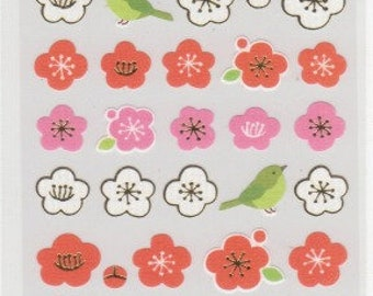 Blossom Stickers - Paper Stickers - Gold Trim - Reference A6229