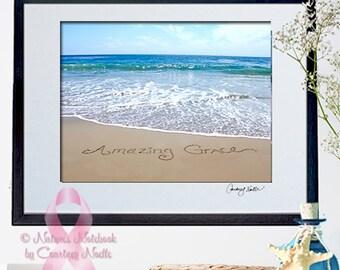 Baptism gift- Unique Beach Decor - Inspirational Wall Art- Breast Cancer Awareness- Unique Ocean Photography