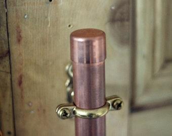 Copper pipe door handle