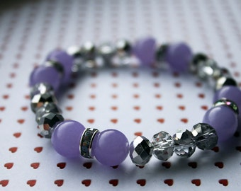 Purple and Silver Sparkle Bracelet