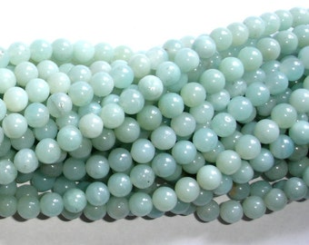 Amazonite Beads, Round, 6mm, 15.5 Inch, Full strand, Approx 63 beads, Full strand, Hole 0.8 mm, AB quality (111054002)