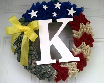 Personalized Military Wreath