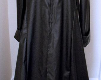 Brand New Black Faux Leather Duster Over Coat - Matrix/Morpheus/Neo/Trinity