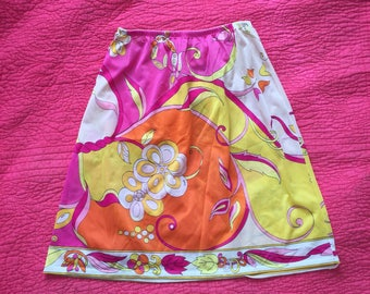 Small 1960s emilio PUCCI for formfit rogers psychedelic half slip