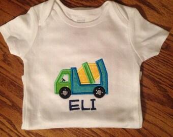 Cement truck onesie or shirt
