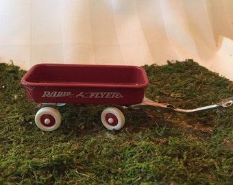 Miniature Radio Flyer Metal Wagon
