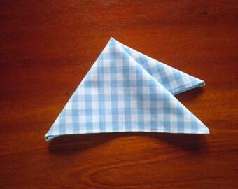 The 'Gene' gingham pocket square