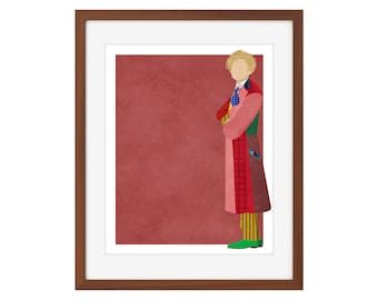 Doctor Who print - the Sixth Doctor/Colin Baker
