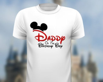 Disney Daddy of the Birthday Boy  Mickey Ears INSTANT Download Printable Iron on Transfer Design Disney Birthday Family Shirts Iron on