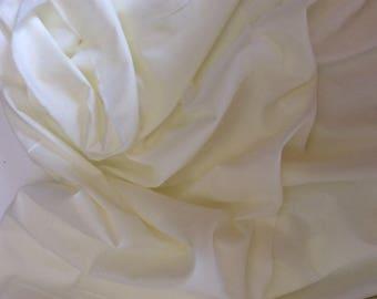 Plain cotton lawn fabric, Ivory no4