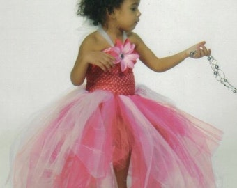 Flower Girl Tutu Dress ~ Pink with train