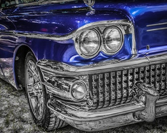 1958 Buick Rivera Car Photography, Automotive, Auto Dealer, Muscle, Sports Car, Mechanic, Boys Room, Garage, Dealership Art