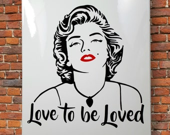 MARILYN MONROE Poster - ENAMEL Wall Art 35x50 cm- High Quality Artwork. Image Picture Vintage Style. Creative Gift. Mural Retro