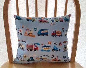 Boys traffic themed cushion cars planes nursery cushion boys automobile cushion