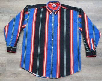 Vintage 90s Chaps Ralph Lauren Striped Oxford Shirt, Men's, Large