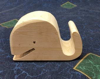 Whale of a cell phone holder