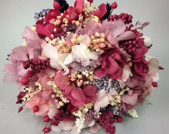 Small bouquet fuchsia and white