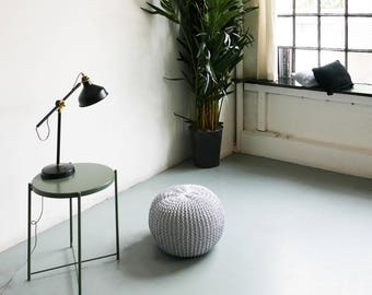 Hand Knitted Pearl Pouf