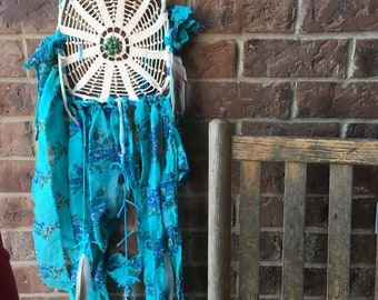 Turquoise and Blue Dream Catcher