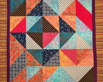 Stripes and Squares Art Quilt