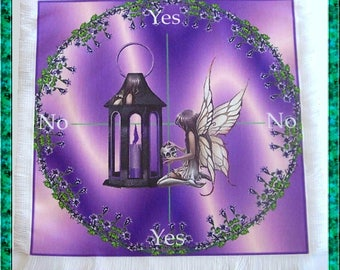 Gothic Fairy Scrying Mat, Dowsing wiccan Magic Divination, fairy gift