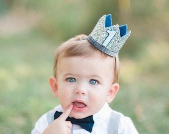 First Birthday Crown Boy | Birthday Crown Boy Headband | Boy Birthday Outfit | Boy Party Hat | Boy Cake Smash | Birthday Hat For Kids