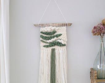 Sage wall hanging \ weaving \ MTO \\ woven wall hanging \ nursery decor\ handwoven wall decor\ woven wall art \  home decor \ fiber wall art