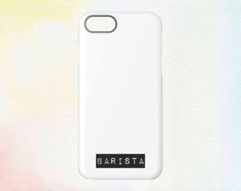 Coffee Label Barista iPhone Case   Barista Tag   iPhone 5/6/7/8/X + Plus Sizes  
