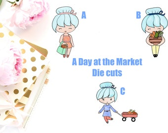 A Day at the Market Diecuts - High Quality Printed on Heavy Cardstock