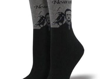 Edgar Allan Poe Nevermore Socks