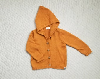 Kids sweater wool cardigan baby hoodie boy hooded cardigan orange gray brown white pink girl hooded sweater alpaca knit cardigan hoodie