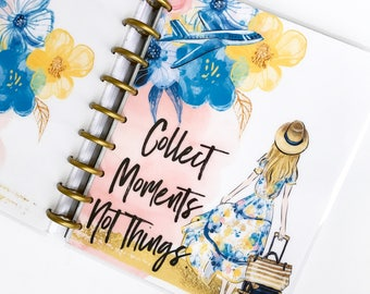 """Happy Planner Cover Set """"Collect Moments"""", 10 Mil Laminated"""