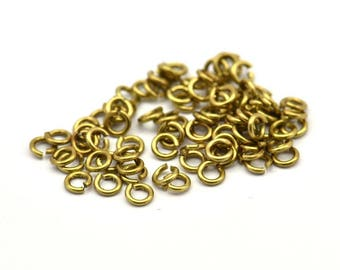 3mm Jump Rings - 500 Raw Brass Jump Rings (3mm) A0395