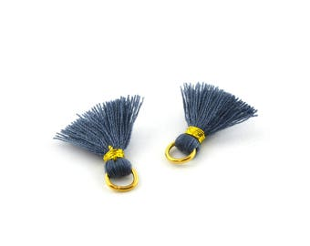 Small PomPoms 2 cm by 2 set / blue in88
