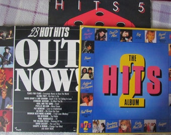 3 vintage records - the hits - the hits 5 the hits 2 + 28 hot hits out now