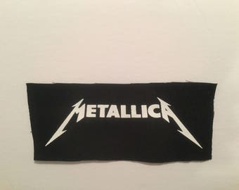 Metallica hand printed patch