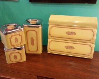 EKCO Canada 1960's 4 Piece Canister Set