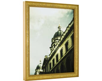 """Craig Frames, 8x8 Inch, Aged Gold Picture Frame, Stratton .75"""" Wide (314GD0808)"""