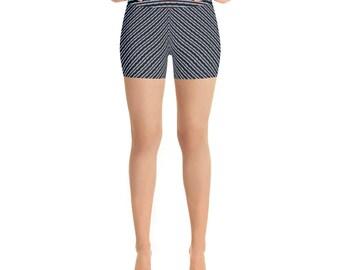 Chicago Skyline Flag Stripe Yoga Shorts