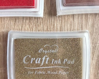 Color Ink pad, to decorate fabric, paper and wood, DIY jobs and scrapbooking