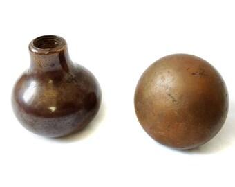 Brass Door Knobs, Round Door knob, Vintage Door Knob, Stylish Patina ...