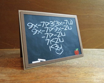 I Love You Mathematical Equation Card for Your Math Geek