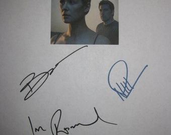 Gone Girl Signed Film Movie Screenplay Script X4 Autographs Ben Affleck Rosamund Pike Neil Patrick Harris Patrick Fugit signature