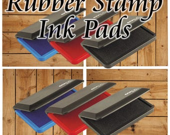 Rubber Stamp Ink Pads - Stamp Pads - Black Ink Pad - Red Ink Pad - Ink Stamping Pad