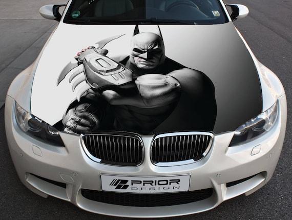Vinyl Car Hood Full Color Wrap Graphics Decal Batman Arkham