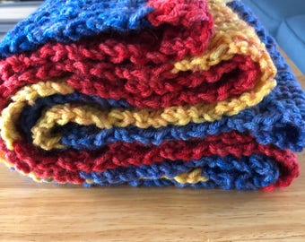 Primary color scarf